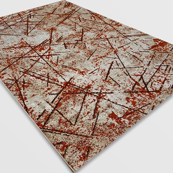 Модерен килим - Ирис 901 Бежов/Оранжев