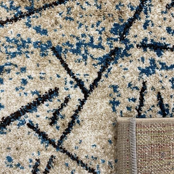 Модерен килим - Ирис 901 Бежов/Син - детайл - 3