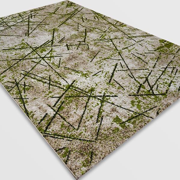 Модерен килим - Ирис 901 Бежов/Зелен