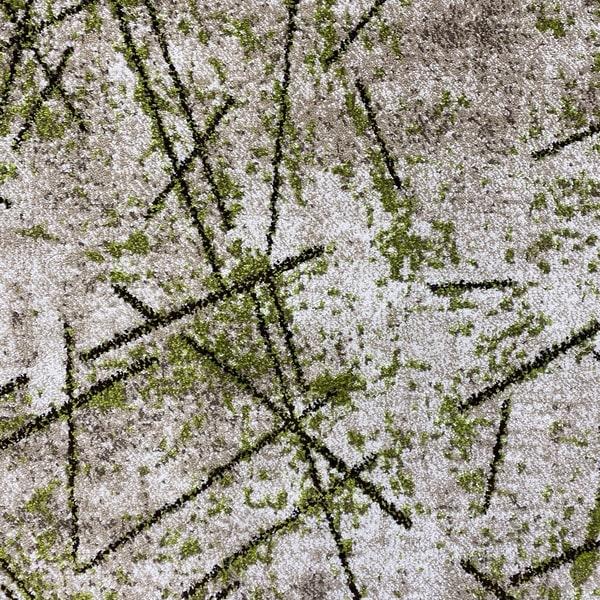Модерен килим - Ирис 901 Бежов/Зелен - детайл - 1