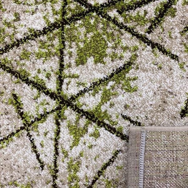 Модерен килим - Ирис 901 Бежов/Зелен - детайл - 3