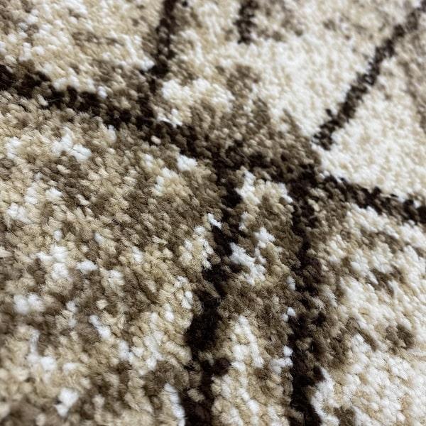 Модерен килим - Ирис 901 Бежов - детайл - 2