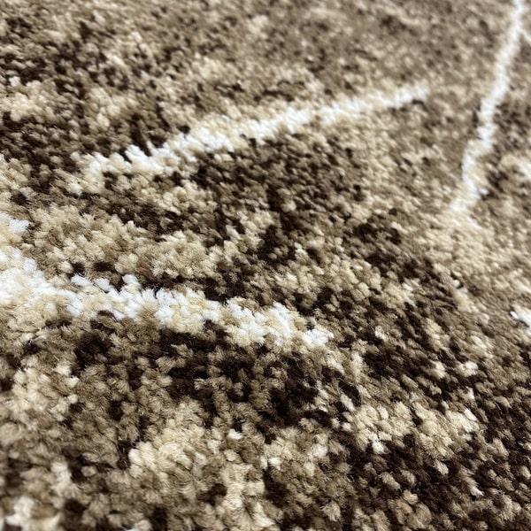 Модерен килим - Ирис 901 Кафяв - детайл - 2