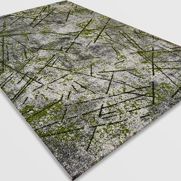 Модерен килим - Ирис 901 Сив/Зелен