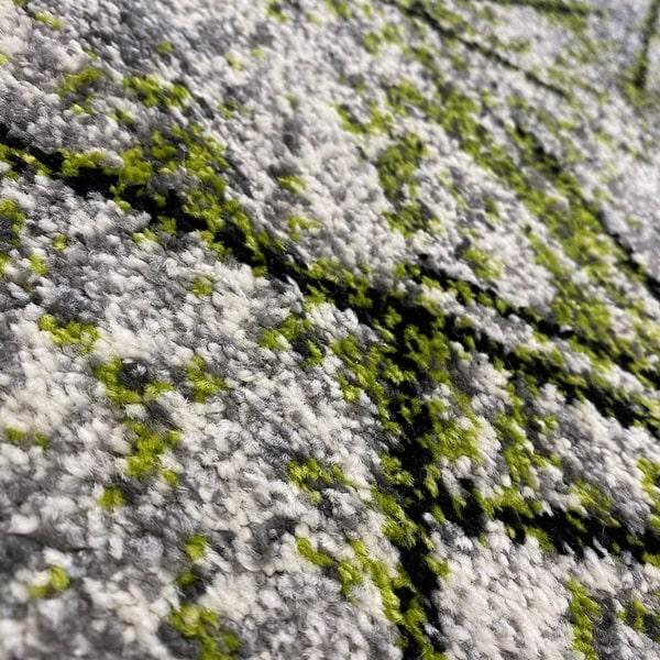 Модерен килим - Ирис 901 Сив/Зелен - детайл - 2