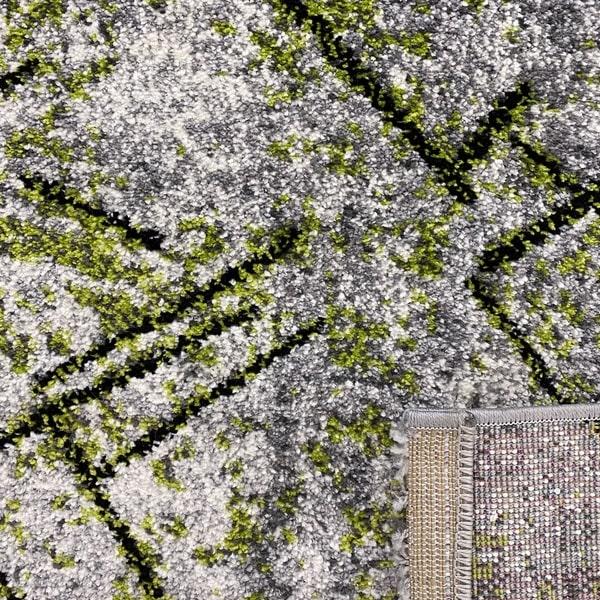 Модерен килим - Ирис 901 Сив/Зелен - детайл - 3
