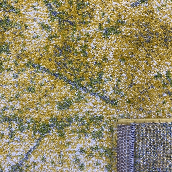 Модерен килим - Ирис 901 Жълт/Зелен - детайл - 3