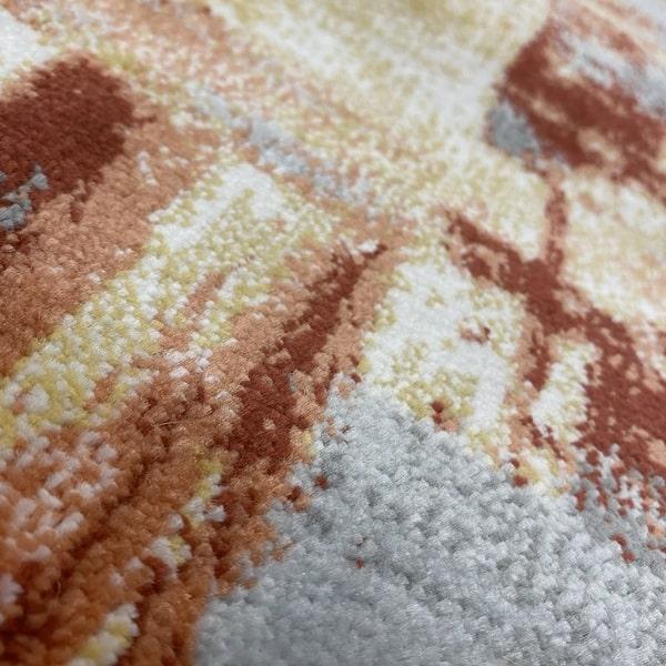 Модерен килим – Неон 6603 Златен - детайл - 2