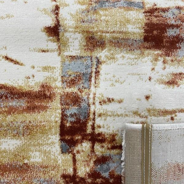 Модерен килим – Неон 6603 Златен - детайл - 3