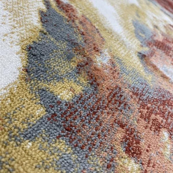 Модерен килим – Неон 6605 Тера - детайл - 2