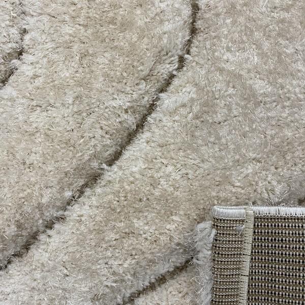Рошав килим - 3Д Софт Шаги 325 Бежов/Визон - детайл - 3