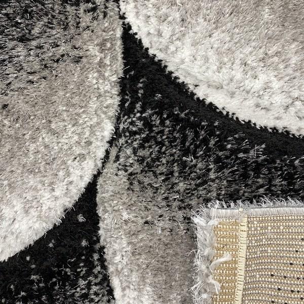 Рошав килим - 3Д Софт Шаги 481 Сив - детайл - 3