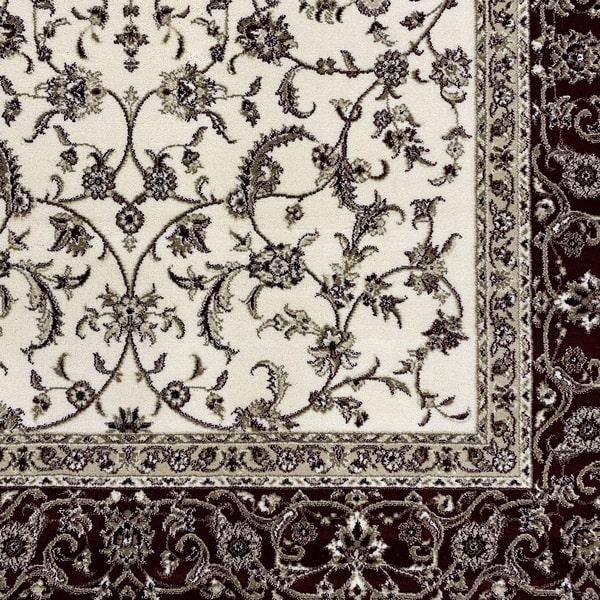 Класически килим – Класик 4174 Крем/Червен - детайл - 1