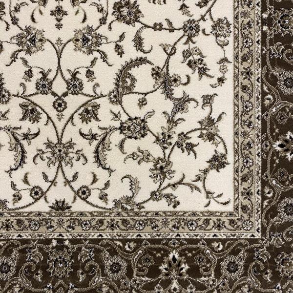 Класически килим – Класик 4174 Крем/Кафяв - детайл - 1