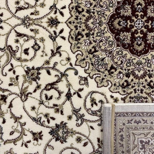 Класически килим – Класик 4176 Крем/Червен - детайл - 3