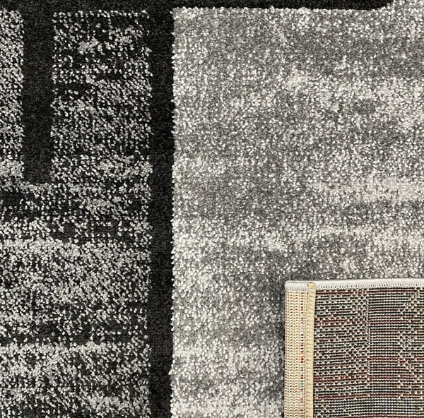 Модерен килим - Ирис 592 Сив/Син - детайл - 3